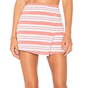 Lovers and Friends striped skort